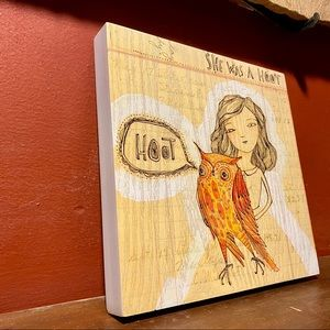 Girl with Owl Happy the Future DEMDACO Wall Art